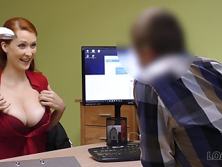 Big tits babe interviews for a new job and gets fucked away from will not hear of new boss