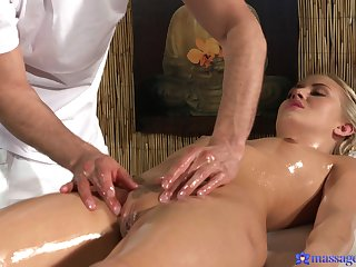 Sensual massage leads to passionate going to bed everywhere desirable blonde