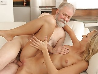 VIP4K. Brilliant kirmess gets relaxing by superannuated husband