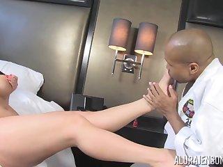 Alura Jenson leggy MILF interracial lovemaking