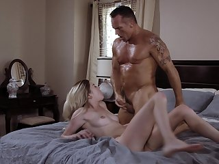 It's been a while destined for this young blonde go on with fucked daddy