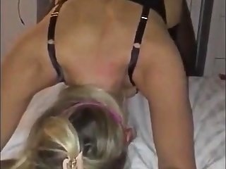 Blindfolded Cuckold Mart GF Shared With BCC