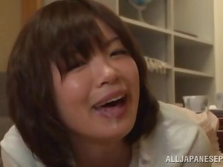 Cum loving Japanese mature Nao Mizuki knows how nearby milk a dick