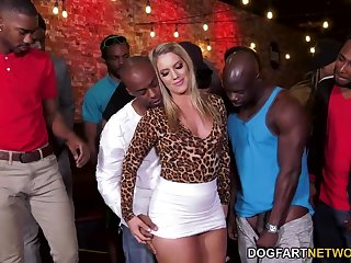 Party hard bootyful blonde slut Candice Dare is obtainable for interracial gang bang