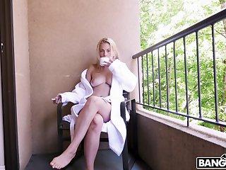 Insolent blonde with big naturals, seductive webcam POV amour