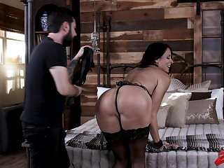 Filial wife Reagan Foxx enjoys being tied up, spanked and fucked