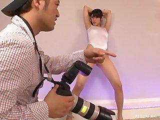 Japanese swimsuit model Iioka Kanako sprayed with cum on face