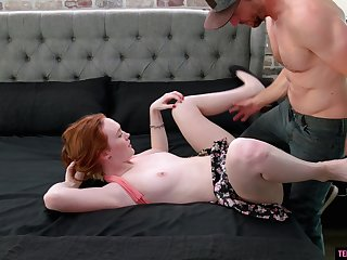Pale redhead MILF Ryan Madison missionary and doggy style pounded