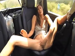 Avia naked masterbation in the car