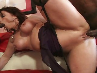Slinky White Chick Endures An Interracial - angelina valentine