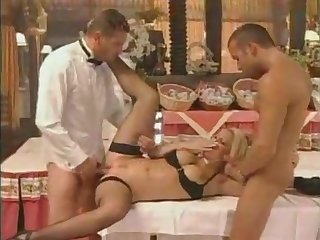 Vintage Kelly Stafford Gangbang With Jet-black Dicks