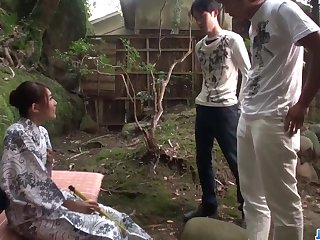 Aroused Aoi Mizuno fucked close to outdoor XXX play