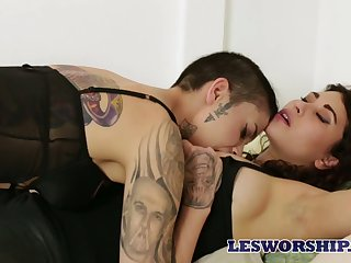 Hot sappho Raven Rocket quite loves working on juicy pussy