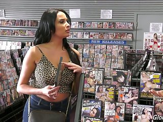 Anissa Kate loves porn and glory holes and she's got big tits