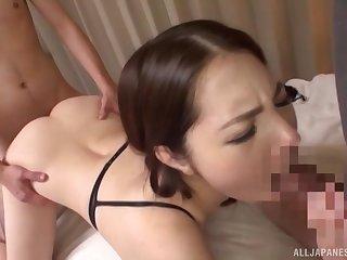 Japanese belle loves it hardcore non-native slyly