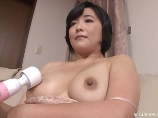 After she prepares cunt Toyokawa Mutsumi is ready for a stranger's cock