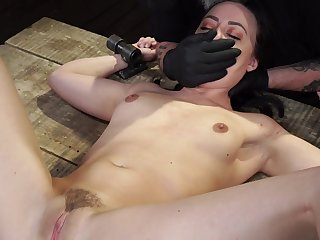 Teen gets spanked with the addition of ass fucked in brutal maledom BDSM scenes
