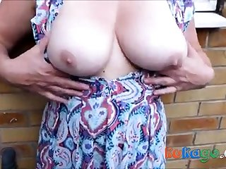 Cum on dirty nylons outdoor with breasts - as requested