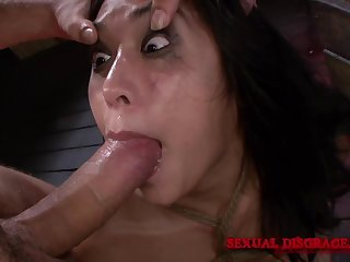 Submissive Mia Little gets fucked by hard friend's penis while she moans