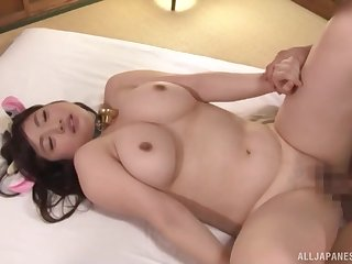 She jerks off his constant cock and takes it all in her mouth