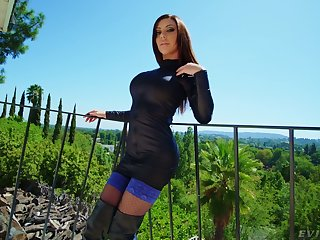 Anal-insane virago Karma Rx gets a mouthful of cum after virile anal fuck
