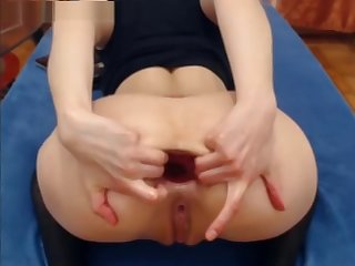 kitty fisting her ass deep and hard to ask pardon epic gape