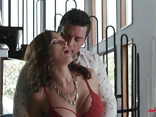 Sultry MILF alongside huge boobies Krissy Lynn feels nice as A she rides dick