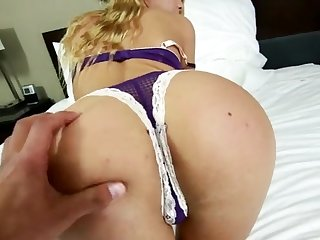 Chatting with a blonde pet before getting fucked hard