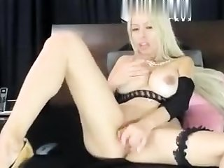 Busty blonde pornstar great toying solo