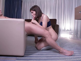 Goody-goody Erika Korti turned to abhor professional cock sucker and anal-insane whore