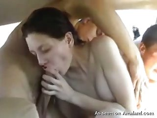 Real pallid wifey of my neighbor loves to get the brush wet pussy fucked