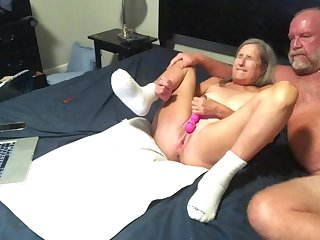 Hottie mommy Dildo's Wet Hoochie-Coochie gets Had Coitus Doggy-Style Style several Big Squirts Cum Shot