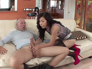 Old guy gets lucky and rural area his prick in wet puss of Nicole Ferrera