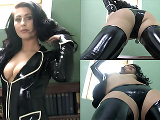 Sophie Star in Black Jacket and Stockings - LatexHeavenVideo