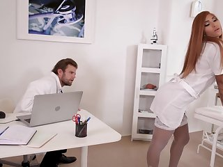 Doc Fucks Red Head Nurses Bum