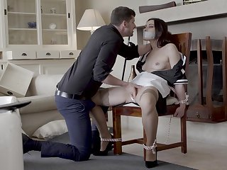 Skinny young babe fucked merciless in brutal XXX