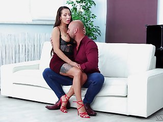 MILF on high heels, fabulous cock sucking and sexual intercourse